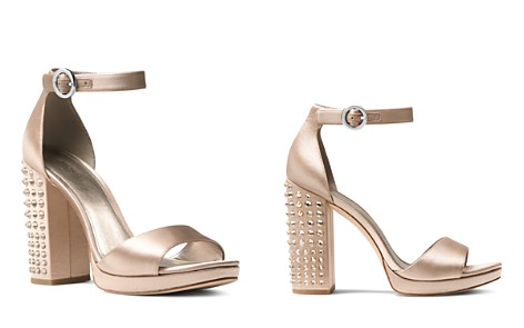 MICHAEL Michael Kors Women's Erika Studded Satin Ankle Strap Sandals - Bloomingdale's_2
